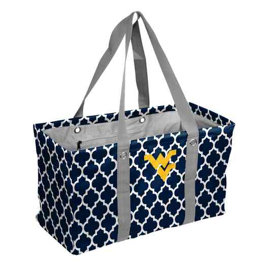 239-765QF: West Virginia Quatrefoil Picnic Caddy