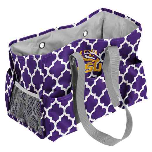 162-865QF: LSU Quatrefoil Jr Caddy