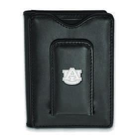 SS013AU-W1: 925 LA Auburn University Blk Lea Wallet