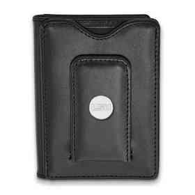 SS090LSU-W1: 925 LA Louisiana State University Blk Lea Wallet