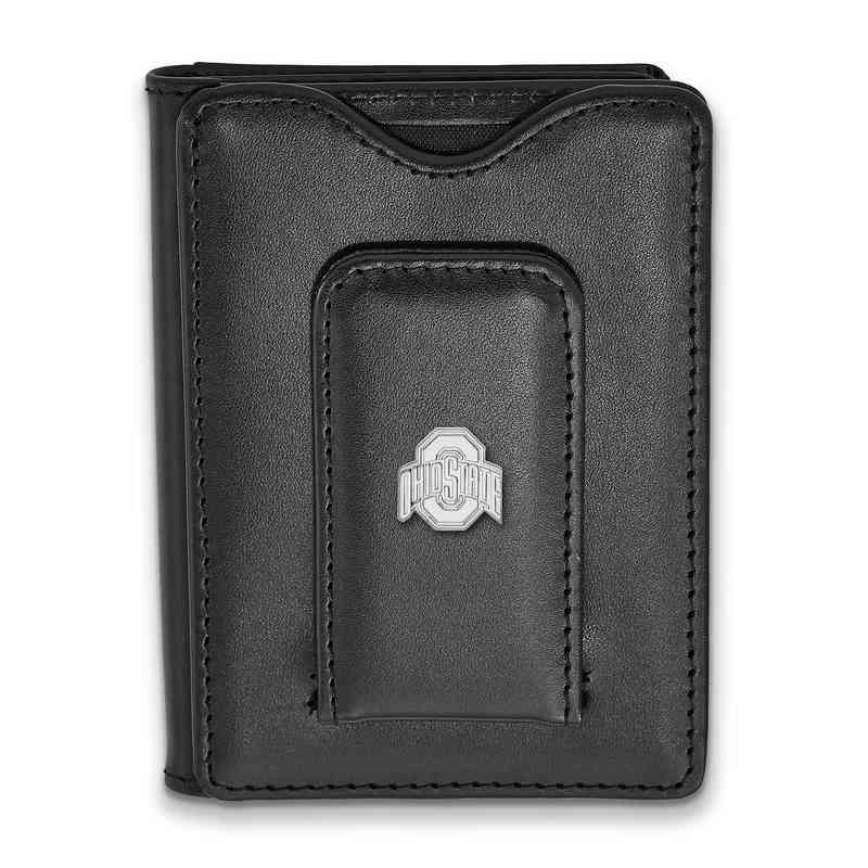 SS013OSU-W1: 925 LA Ohio State University Blk Lea Wallet