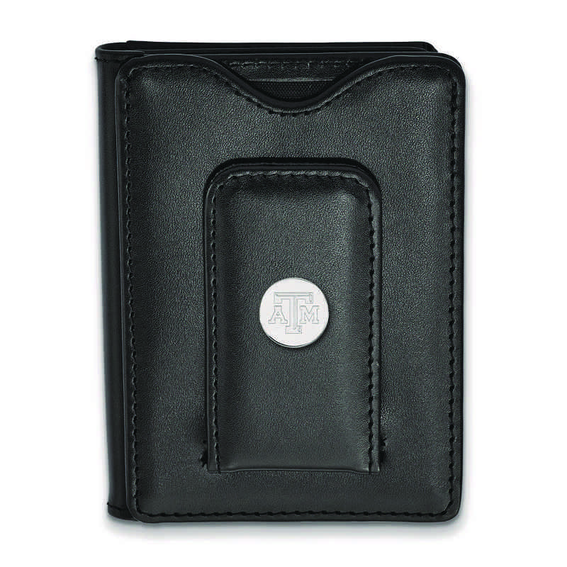 SS077TAM-W1: 925 LA Texas A&M University Blk Lea Wallet