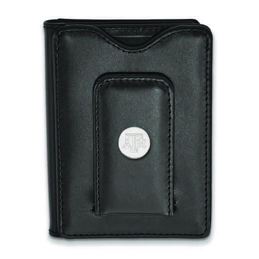 SS077TAM-W1: 925 LA Texas A&M University Blk Lea Wallet