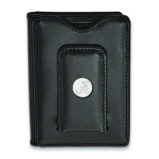 SS013UAL-W1: 925 LA University of Alabama Blk Lea Wallet