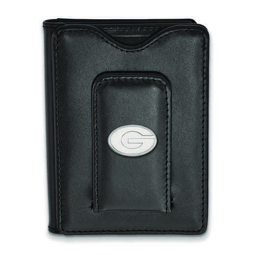 SS013UGA-W1: 925 LA University of Georgia Blk Lea Wallet