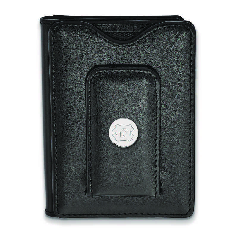 SS012UNC-W1: 925 LA University of North Carolina Blk Lea Wallet