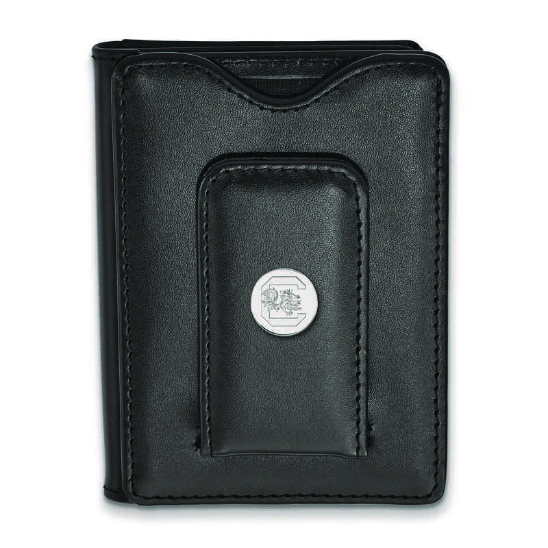 SS013USO-W1: 925 LA University of South Carolina Blk Lea Wallet