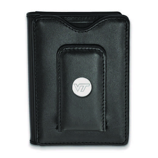 SS071VTE-W1: 925 LA Virginia Tech Blk Lea Wallet
