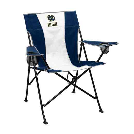 190-10P-1: Notre Dame Navy/White Pregame Chair