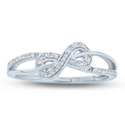 1/20 CT. T.W. Round Diamond Infinity Promise Ring in Sterling Silver