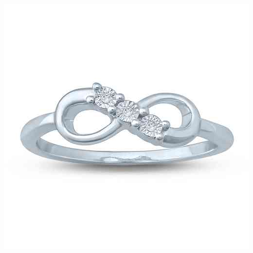 Diamond Accent Round Infinity Fashion Ring in Sterling Silver