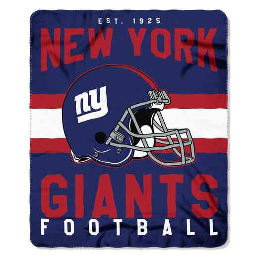 1NFL031030081RET: NW SINGULAR FLLECE THROW, NY GANTS
