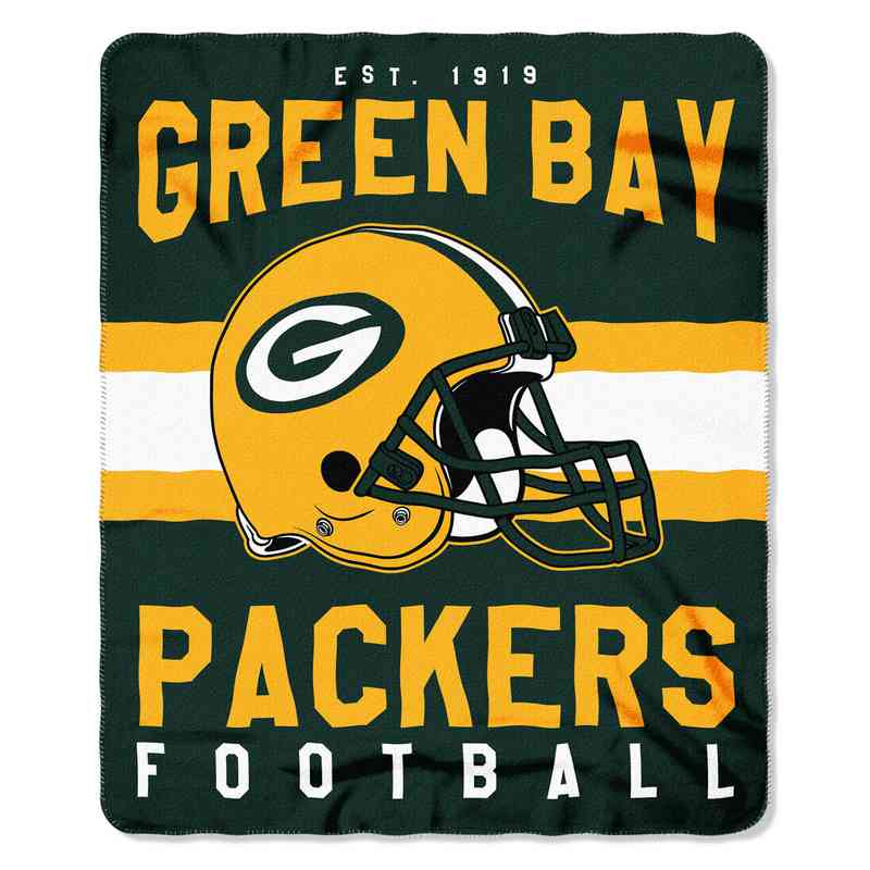 1NFL031030017RET: NW SINGULAR FLLECE THROW, PACKERS