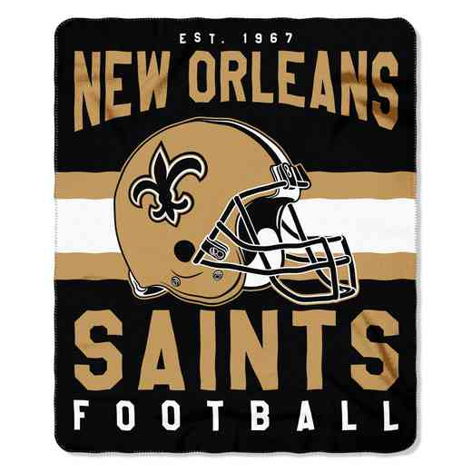 1NFL031030021RET: NW SINGULAR FLLECE THROW, SAINTS