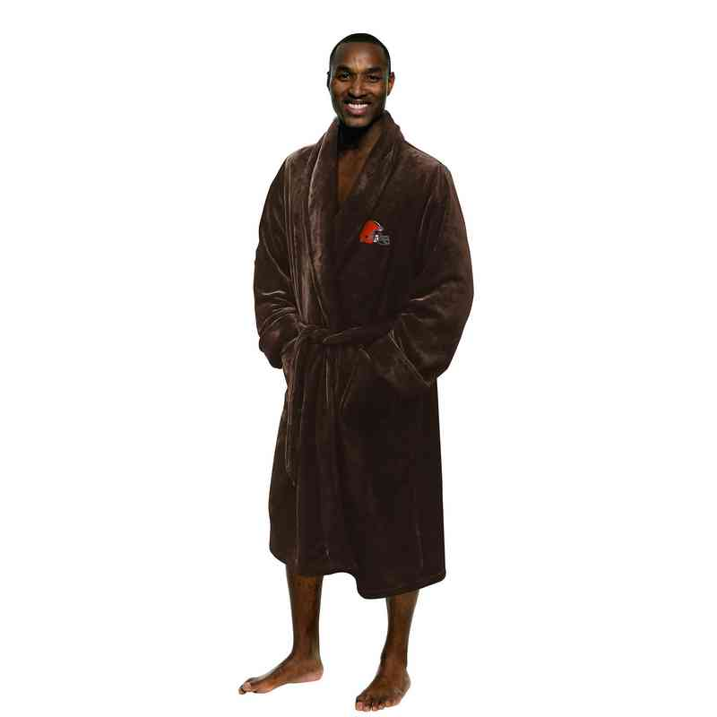 1NFL349000005RET: NFL 349 Browns Man L/XL Bathrobe