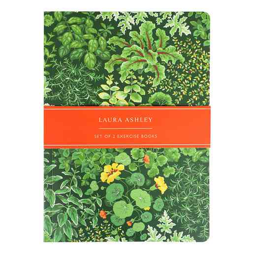 LALW05: Laura Ashley - Living Wall Set of 2 A5 Exercise Books