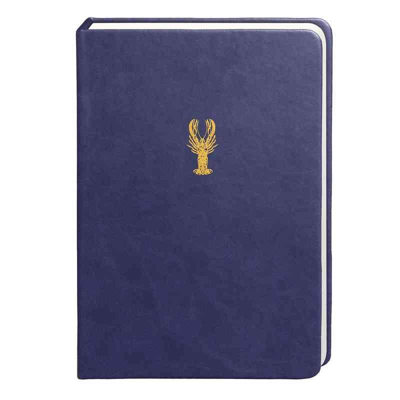 SKYN04: Sky + Miller Navy Blue Lobster Notebook