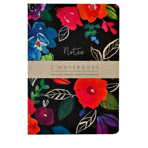 GTPNB10: Portico/AW16 Notebooks  BOLD FLORAL A5 NB 2 Set