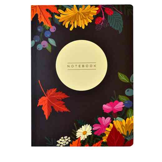 GTPNB13: Portico/AW16 Notebooks  A5 FLEXI LUCY JOY AUTUMN FLORAL