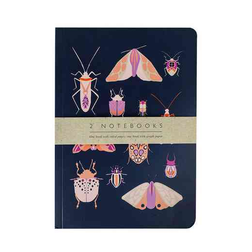 GTPNB14: Portico Notebooks  SET OF 2 EXERCISE BOOKS Entomology