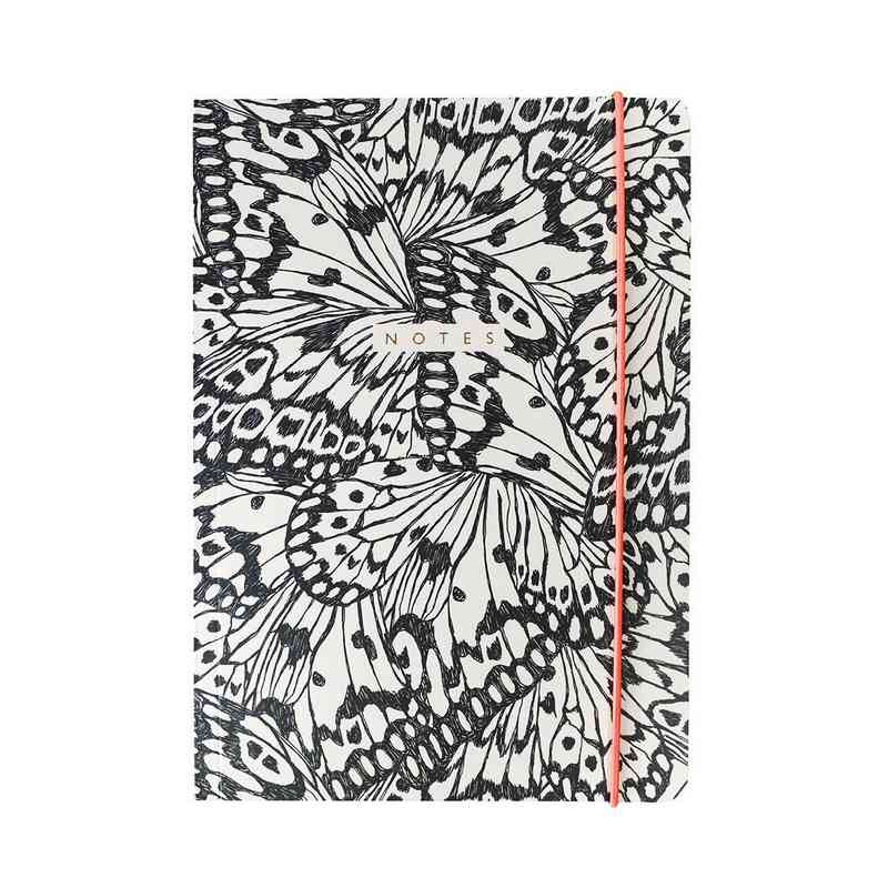 GTPNB20: Portico Notebooks  A5 FLEXI Butterfly