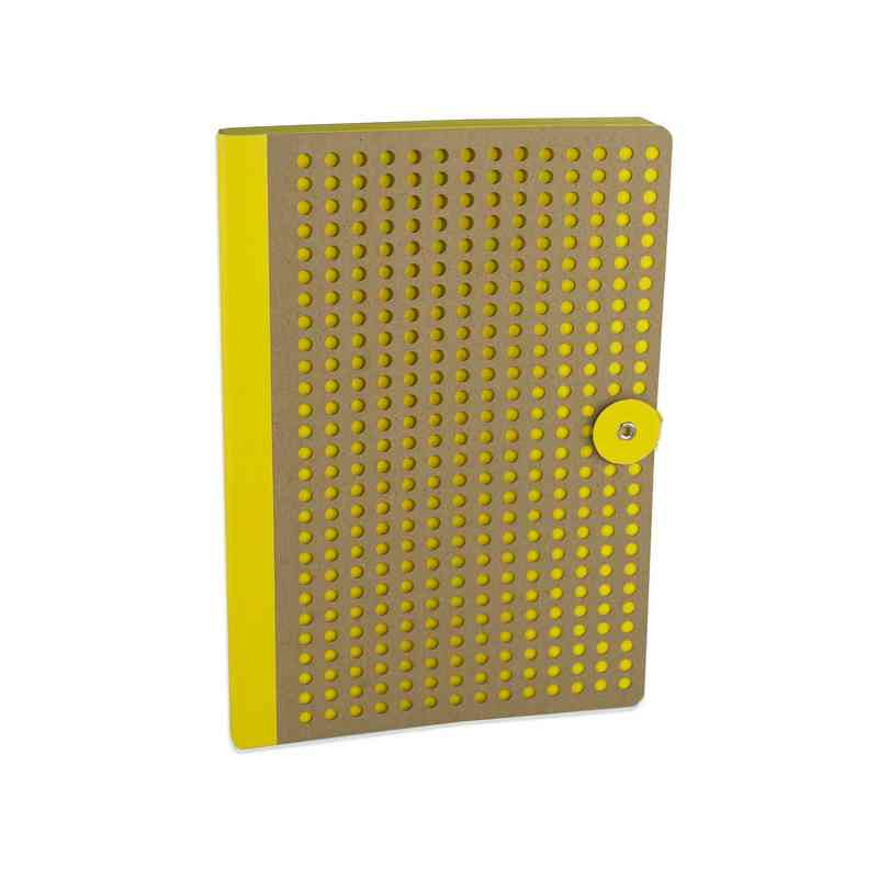 YELB501: Full Circle Notebook Yellow & Kraft lasercut B5 Notebook