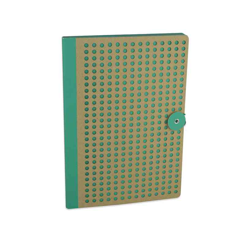 GRNB501: Full Circle Notebook Green & Kraft lasercut B5 Notebook
