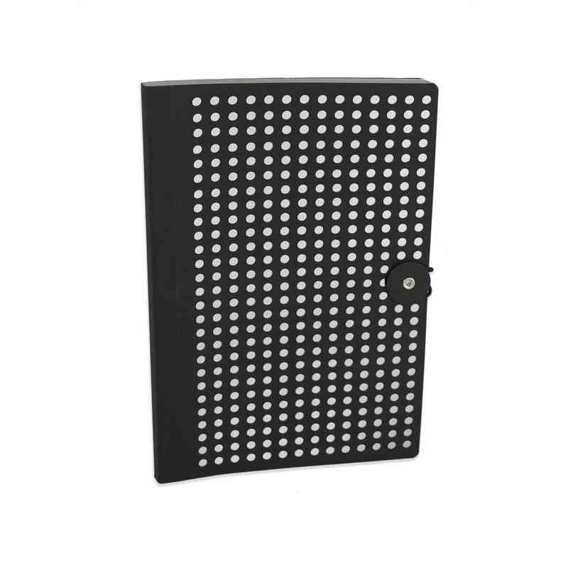BLKB501 : Full Circle Notebook Black & Silver foil lasercut B5 Notebook