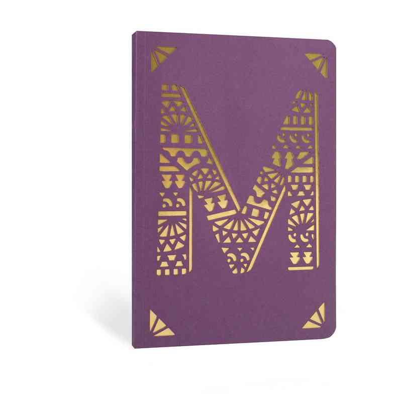 M1F: Portico/Monogram Notebook M1F M FOIL A6 NOTEBOOK