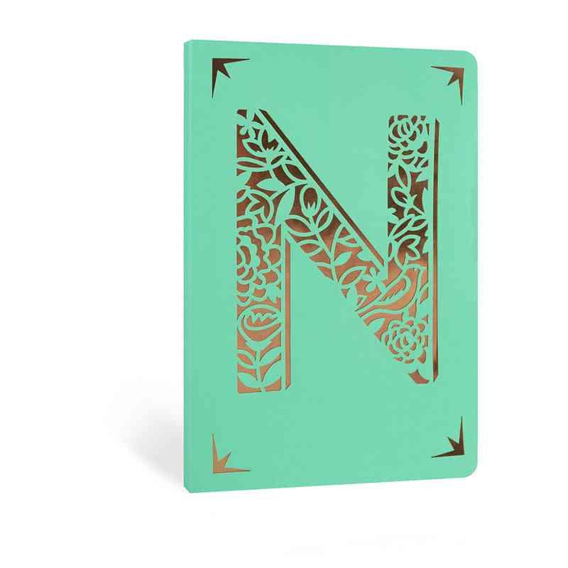 N1F: Portico/Monogram Notebook N1F N FOIL A6 NOTEBOOK
