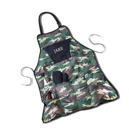 GC1103: Personalized Deluxe Camouflage Apron Grilling Set