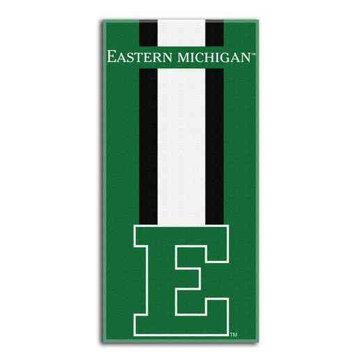 1COL620000212RET: NW NCAA ZONE READ BEACH TOWEL, EASTERN MICHIGAN