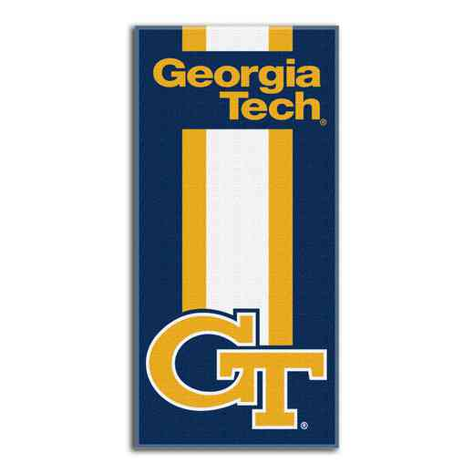 1COL620000078RET: NW NCAA ZONE READ BEACH TOWEL, GEORGIA TECH