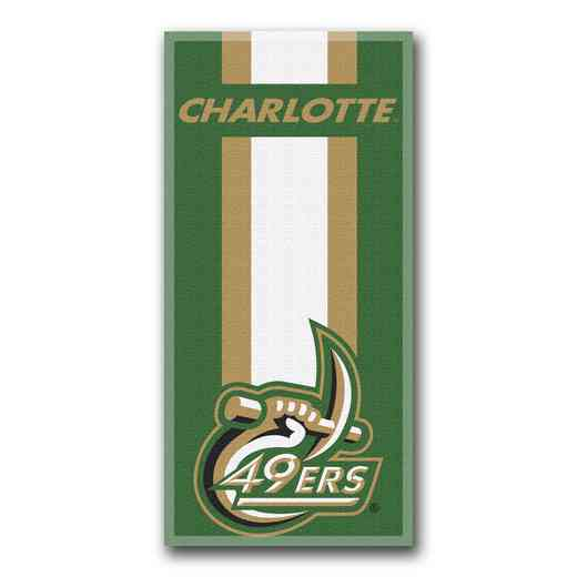1COL620000145RET: NW NCAA ZONE READ BEACH TOWEL, UNC CHARLOTTE