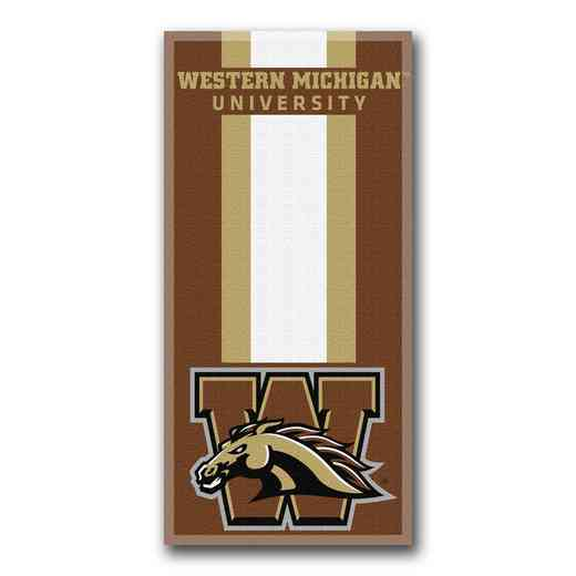 1COL620000199RET: NW NCAA ZONE READ BEACH TOWEL, WESTERN MICHIGAN