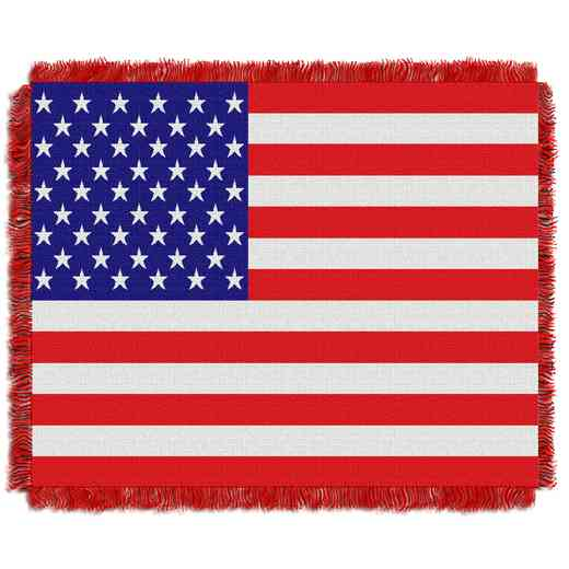 1GEN019010001WMT: NW AMERICAN FLAG JACQUARD THROW