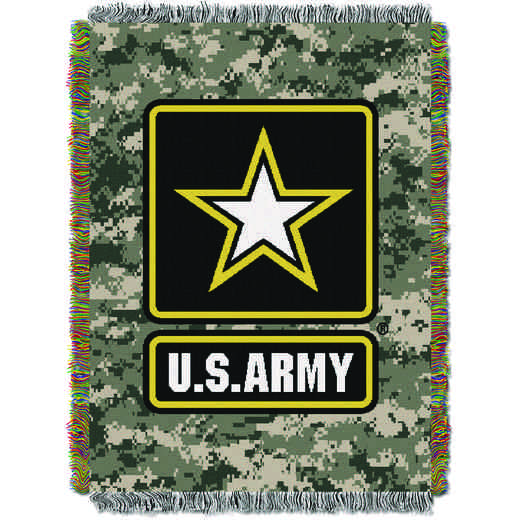 1MIL051000001RET: NW ARMY CAMO TAPESTRY THROW