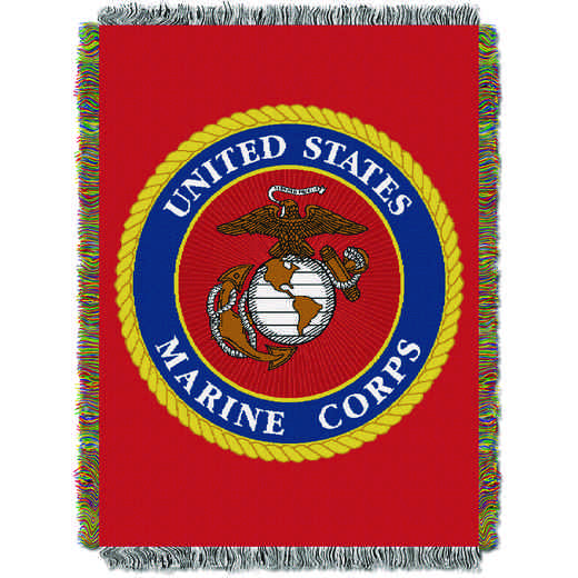 1MIL051000003RET: NW US MARINES TAPESTRY THROW