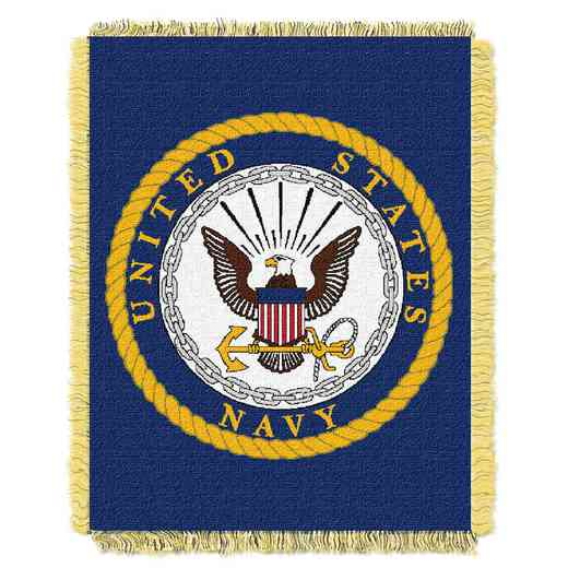 1MIL019000004RET: NW NAVY WOVEN JACQUARD THROW