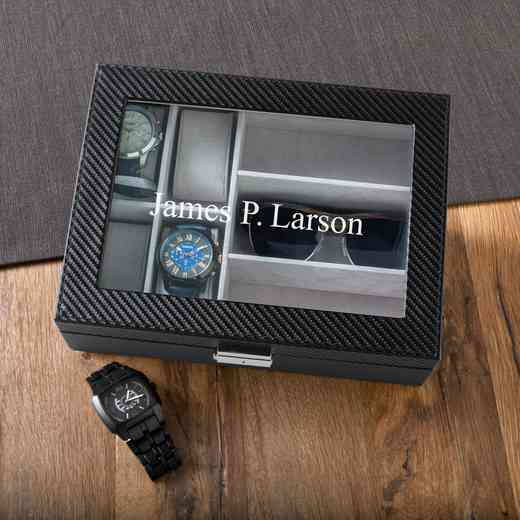 GC1372: Personalized Men's Watch & Sunglasses Box