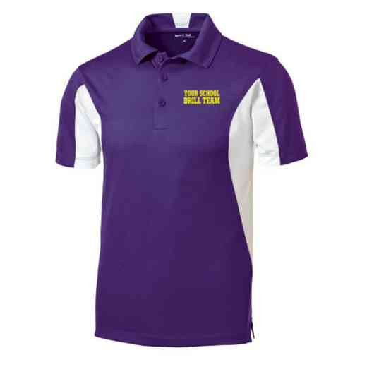 Drill Team Embroidered Sport-Tek Side Blocked Sport Wick Polo