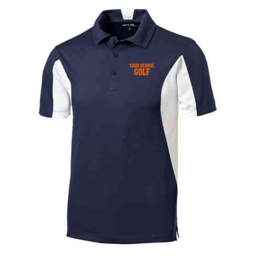 Golf Embroidered Sport-Tek Side Blocked Sport Wick Polo