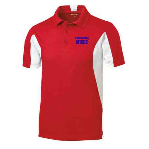 Music Embroidered Sport-Tek Side Blocked Sport Wick Polo