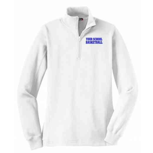 Basketball Embroidered Sport-Tek Womens Qtr Zip Sweatshirt