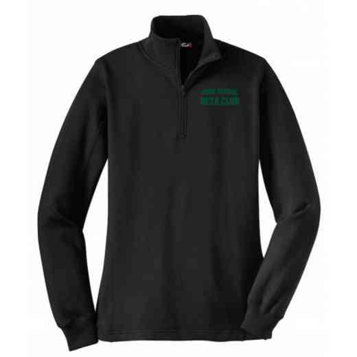 Beta Club Embroidered Sport-Tek Womens Qtr Zip Sweatshirt
