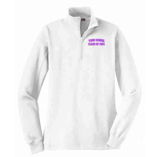 Class of  Embroidered Sport-Tek Womens Qtr Zip Sweatshirt