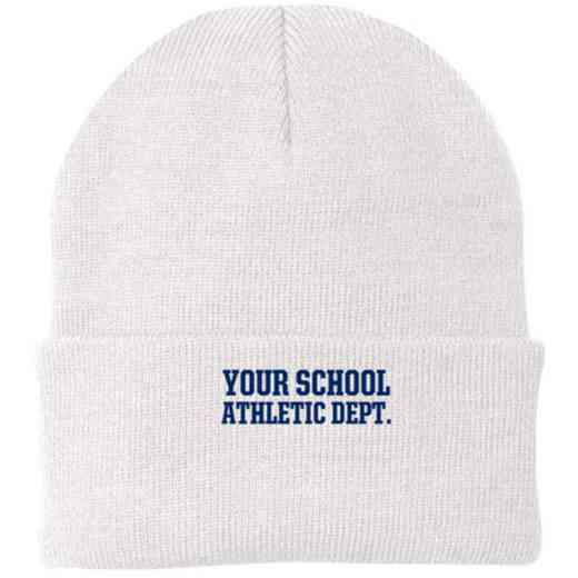 Athletic Department Embroidered Knit Folded Cuff Cap
