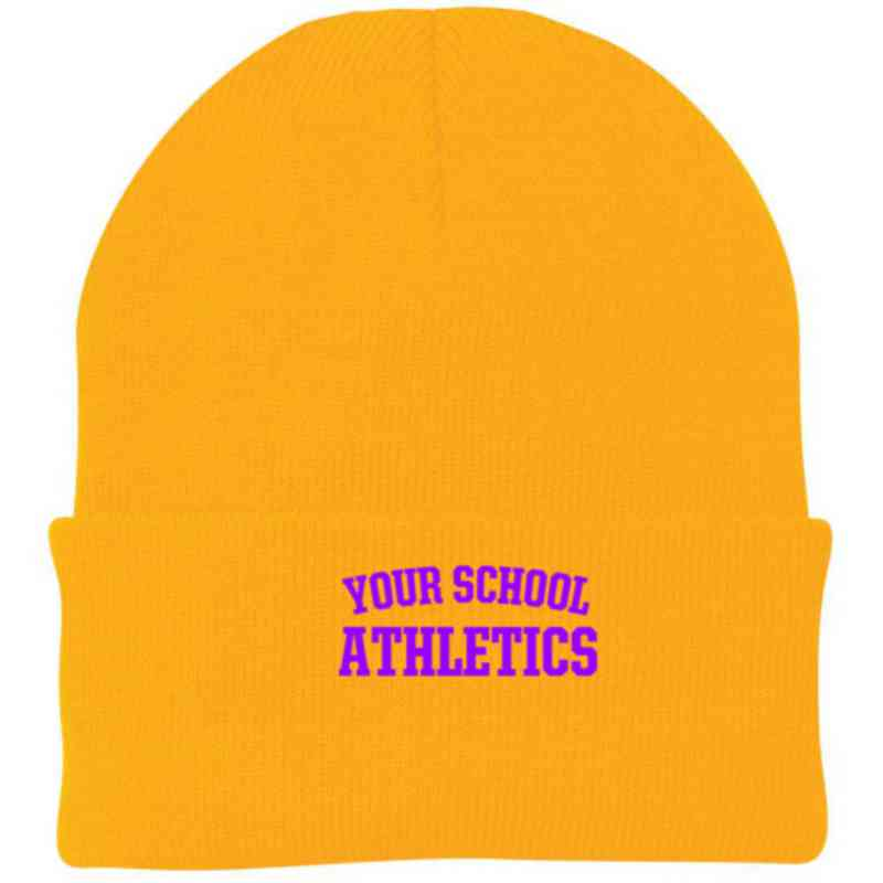 Athletics Embroidered Knit Folded Cuff Cap