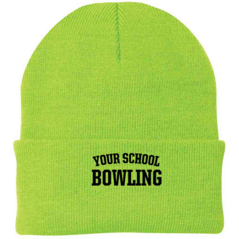 Bowling Embroidered Knit Folded Cuff Cap