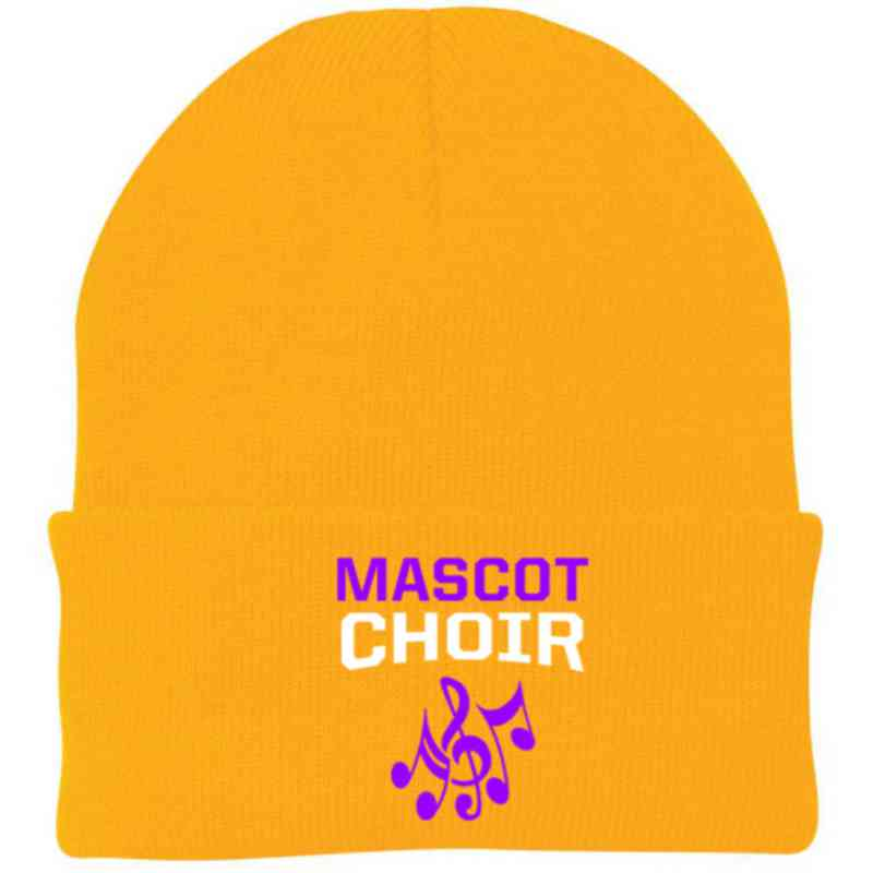 Choir Embroidered Knit Folded Cuff Cap